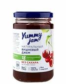Джем Yummy jam натуральный вишневый без сахара, банка 350 г