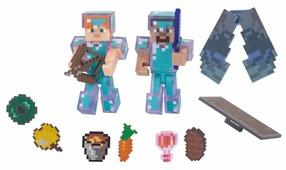 Игровой набор Jazwares Minecraft Стив и Алекс с набором для выживания 16472
