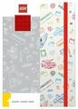 Блокнот LEGO 51840 А5 (96 листов), красный, белый