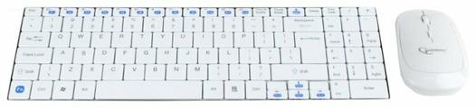 Клавиатура и мышь Gembird KBS-P5-W-RU White USB