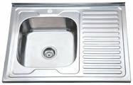 Накладная кухонная мойка Ростовская Мануфактура Сантехники MG6-8060L 80х60см нержавеющая сталь