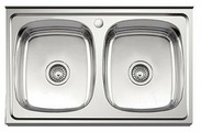 Накладная кухонная мойка Ledeme L98050B 80х50см нержавеющая сталь