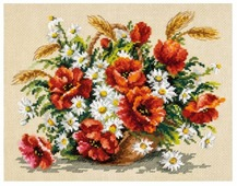 Чудесная Игла Набор для вышивания Букет полевых 27 x 21 см (40-67)