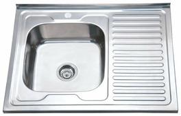 Накладная кухонная мойка Ростовская Мануфактура Сантехники MS8-8060L 80х60см нержавеющая сталь