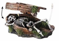 Фигурка для аквариума Europet Bernina Гроб со скелетом EPB234-108017 14.5х7х9 см