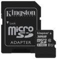 Карта памяти Kingston Canvas Select SDCS/32GB microSDHC 32GB (с адаптером)