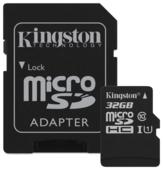 Карта памяти KINGSTON MicroSDHC 32 Гб Canvas Select с адаптером SD (SDCS/32GB)