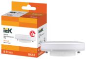Лампа светодиодная IEK ECO таблетка 3000K, GX53, T75, 8Вт