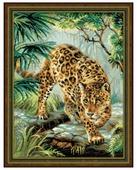 Риолис Набор для вышивания крестом Хозяин джунглей 30 x 40 (1549)