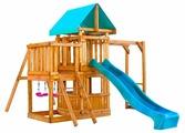 Домик Babygarden с балконом, закрытым домиком, рукоходом и горкой 2.4 м