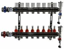 """Коллекторная группа Tim (KA008) 1"""", 8 вых., расходомер, воздухоотводчик, сливной кран, термометр"""
