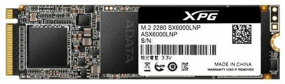 Твердотельный накопитель ADATA XPG SX6000 Lite 256GB