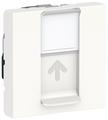 Розетка для интернета / телефона Schneider Electric NU341718, белый