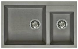 Врезная кухонная мойка elleci Quadra 440 81.5х50см искусственный гранит