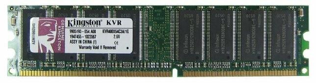 Оперативная память 1 ГБ 1 шт. Kingston KVR400X64C3A/1G