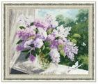 Золотое Руно Набор для вышивания Сиреневая весна 30,5 х 37,9 см (ЛЦ-054)