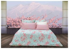 Постельное белье 2-спальное Sova & Javoronok Японский сад 50х70 см, перкаль