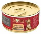 Корм для собак Molina Консервы для собак Цыпленок с креветками в соусе