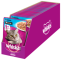 Корм для кошек Whiskas с лососем 85 г (кусочки в желе)