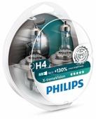 Лампа автомобильная галогенная Philips X-tremeVision +130% H4 3700K 60/55W 2 шт.