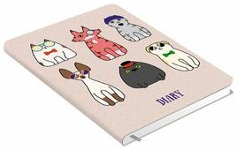 Ежедневник Канц-Эксмо Всюду кошки. Дизайн 2 недатированный, искусственная кожа, А5, 128 листов