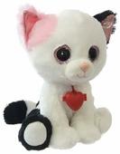 Мягкая игрушка Fancy Белый кот Фенсик с сердечком 22 см