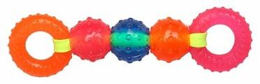 Игрушка для собак Грызлик Ам Шарики и кольца на веревке