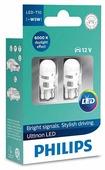 Лампа автомобильная светодиодная Philips Ultinon LED 11961ULWX2 W5W 2 шт.
