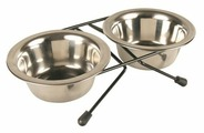 Миски металлические для животных с подставкой TRIXIE Eat on Feet 2х0,2 л d 10 см (24830)