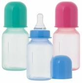 Курносики Бутылочка цветная с силиконовой соской, 125 мл 11129 с рождения