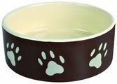 Миска TRIXIE 24531 с рисунком Лапка для собаки 300 мл