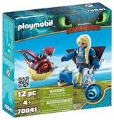 Набор с элементами конструктора Playmobil Dragons 70041 Астрид в летном костюме с Объедалой