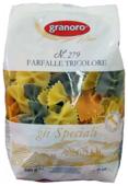 Granoro Макароны gli Speciali Farfalle Tricolore n. 279, 500 г