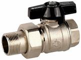Кран шаровый ЗУБР 4-51327-C-1/2 муфтовый (ВР/НР), латунь, с накидной гайкой