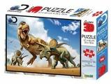 Пазл Prime 3D Тираннозавр против трицератопса (10329), 500 дет.