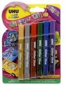 UHU Клеящие блестки для декорирования Young Creativ Glitter Glue Original (6 шт.)