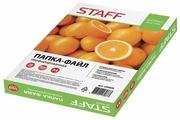 STAFF Папки-файлы перфорированные А4, 500 штук, апельсиновая корка, 0,028 мм