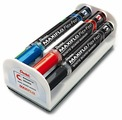 Pentel Набор маркеров для доски Maxiflo Flex Feel с магнитной губкой MWL5SBF-4N (1-5мм, 4 шт.)