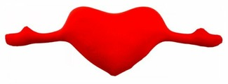 Подушка декоративная Мнушки Сердце с руками 30х78 см (Ап11сер11)