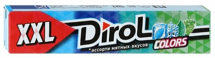 Жевательная резинка Dirol Cadbury Colors XXL без сахара ассорти мятных вкусов, 19 г