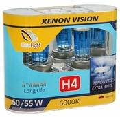 Лампа автомобильная галогенная ClearLight XenonVision MLH4XV H4 60/55W 2 шт.