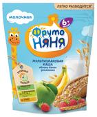 Каша ФрутоНяня молочная мультизлаковая с яблоком, бананом, земляникой (с 6 месяцев) 200 г
