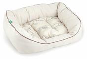 Лежак для кошек, для собак Titbit льняной (008232) 40х30 см