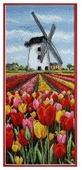 Anchor Набор для вышивания Тюльпаны у мельницы 32 х 14 см (PCE0806)