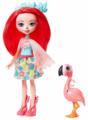 Кукла Enchantimals Фенси Фламингo с любимой зверюшкой, 15 см, GFN42