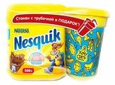 Nesquik Opti-start Какао-напиток растворимый со стаканом