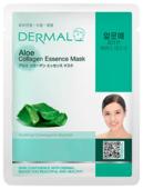 DERMAL Aloe Collagen Essence Mask Тканевая маска с коллагеном и экстрактом алоэ