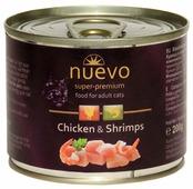 Корм для кошек Nuevo с курицей, с креветками 200 г