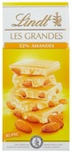 Шоколад Lindt Les Grandes белый с цельным миндалем