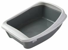 Туалет-лоток для кошек Сибирская кошка Евро с бортиком 44х32х16 см